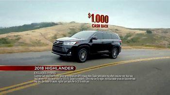 Toyota Fall Savings Event TV Spot, 'Don't Forget: 2018 Highlander' [T2] - Thumbnail 7