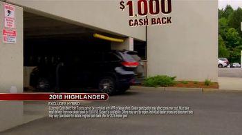 Toyota Fall Savings Event TV Spot, 'Don't Forget: 2018 Highlander' [T2] - Thumbnail 9
