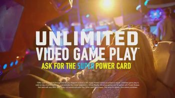 Dave and Buster's Super Power Card TV Spot, 'Unlimited'
