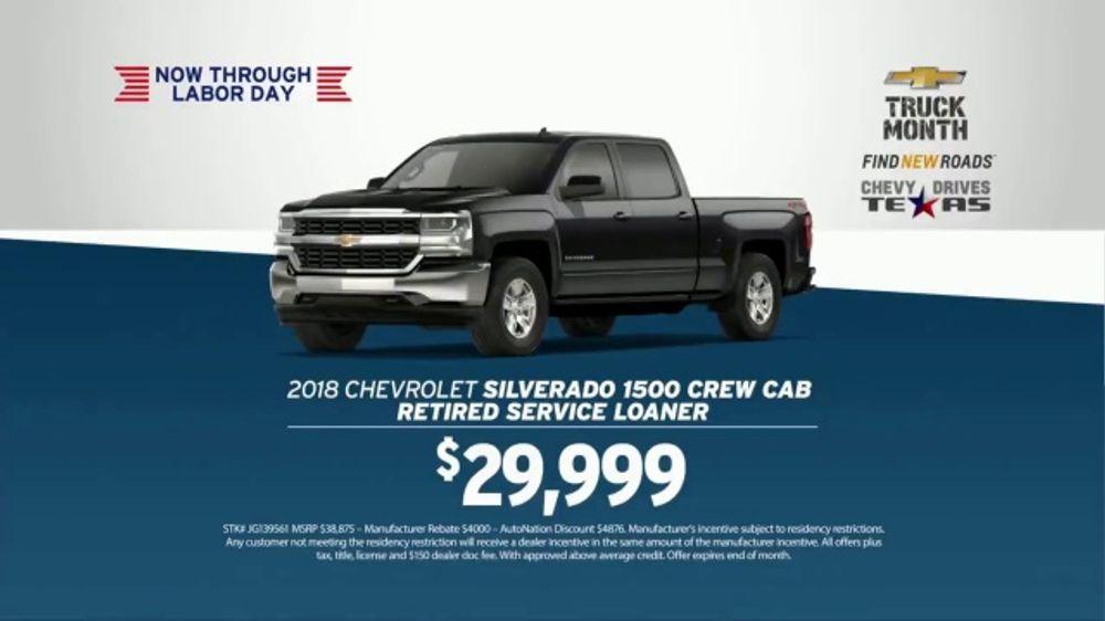 Road Runner Auto Sales >> AutoNation Chevrolet TV Commercial, '250,000 Five Star Reviews: 2018 Silverado' - iSpot.tv