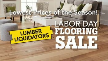 Lumber Liquidators Labor Day Flooring Sale TV Spot, 'Hardwood and Bamboo'