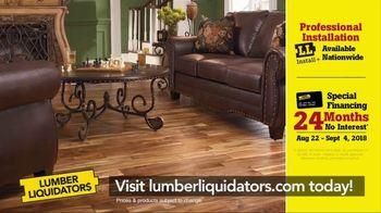 Lumber Liquidators Labor Day Flooring Sale TV Spot, 'Hardwood and Bamboo' - Thumbnail 9