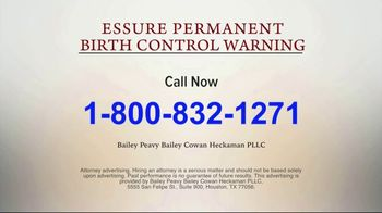 Bailey Peavy Bailey Cowan Heckaman, PLLC TV Spot, 'Essure Birth Control' - Thumbnail 6