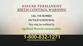 Bailey Peavy Bailey Cowan Heckaman, PLLC TV Spot, 'Essure Birth Control' - Thumbnail 2