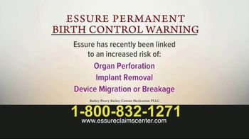 Bailey Peavy Bailey Cowan Heckaman, PLLC TV Spot, 'Essure Birth Control' - Thumbnail 3