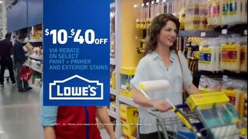 Lowe's TV Spot, 'Game-Changer: Paint and Stains Rebate' - Thumbnail 10