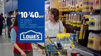Lowe's TV Spot, 'Game-Changer: Paint and Stains Rebate' - Thumbnail 9