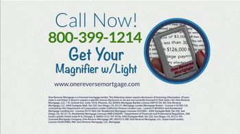 One Reverse Mortgage TV Spot, 'What's More Important' - Thumbnail 6