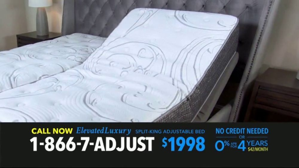 . Elevated Luxury Split King Adjustable Bed TV Commercial   Buy Direct     Video