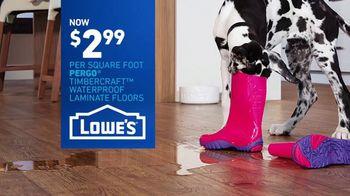 Lowe's TV Spot, 'The Moment: Old Carpet: Pergo Waterproof Laminate' - Thumbnail 9