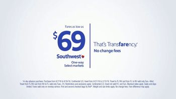 Southwest Airlines Fall Travel Sale TV Spot, 'Low Fares and Baggage Fees' - Thumbnail 8