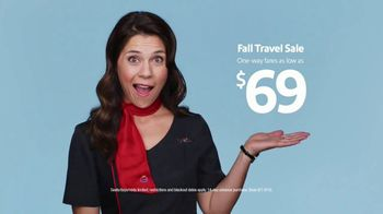 Southwest Airlines Fall Travel Sale TV Spot, 'Low Fares and Baggage Fees' - Thumbnail 1