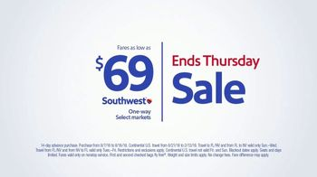 Southwest Airlines Fall Travel Sale TV Spot, 'Low Fares and Baggage Fees' - Thumbnail 7
