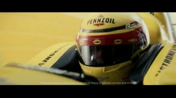 Pennzoil Synthetics TV Spot, 'Professional Race Car Drivers Trust Pennzoil' Featuring Helio Castroneves, Leah Prickett, Joey Logano