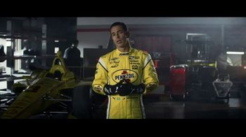 Pennzoil Synthetics TV Spot, 'Professional Race Car Drivers Trust Pennzoil' Featuring Helio Castroneves, Leah Prickett, Joey Logano - Thumbnail 1