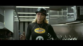 Pennzoil Synthetics TV Spot, 'Professional Race Car Drivers Trust Pennzoil' Featuring Helio Castroneves, Leah Prickett, Joey Logano - Thumbnail 10