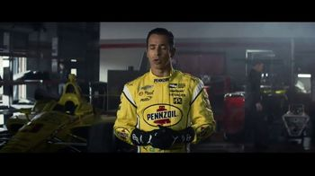 Pennzoil Synthetics TV Spot, 'Professional Race Car Drivers Trust Pennzoil' Featuring Helio Castroneves, Leah Prickett, Joey Logano - Thumbnail 2