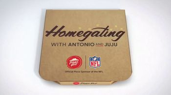 Pizza Hut $7.99 Large 2-Topping Pizza TV Spot, 'Homegating' Feat. Antonio Brown, Juju Smith-Schuster - Thumbnail 1
