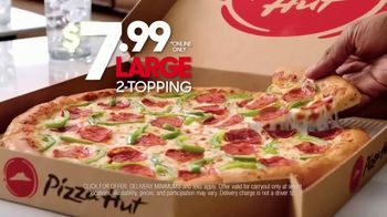 Pizza Hut $7.99 Large 2-Topping Pizza TV Spot, 'Homegating' Feat. Antonio Brown, Juju Smith-Schuster - Thumbnail 3