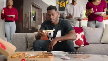 Pizza Hut $7.99 Large 2-Topping Pizza TV Spot, 'Homegating' Feat. Antonio Brown, Juju Smith-Schuster - Thumbnail 4