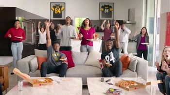 Pizza Hut $7.99 Large 2-Topping Pizza TV Spot, 'Homegating' Feat. Antonio Brown, Juju Smith-Schuster - 1057 commercial airings