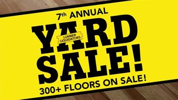 Lumber Liquidators Fall Flooring Yard Sale TV Spot, 'Waterproof Flooring'
