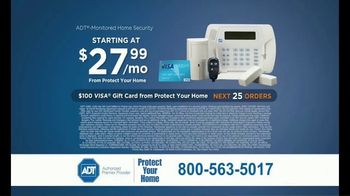 ADT Monitored Home Security TV Spot, 'Break-Ins: $100 Visa Gift Card' - Thumbnail 10