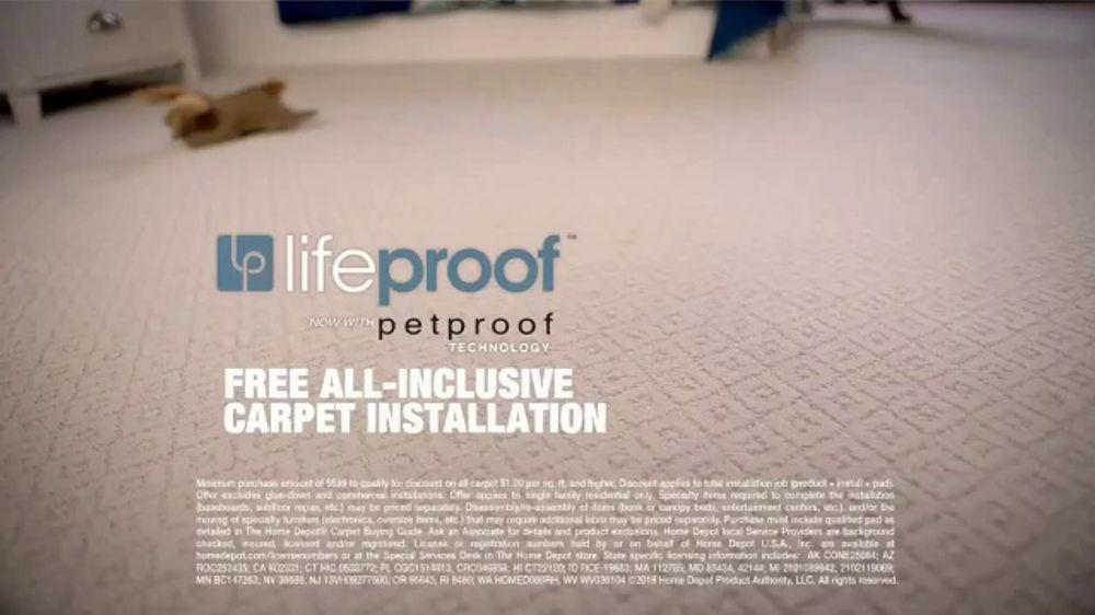 The Home Depot Tv Commercial Free Installation For Lifeproof Carpet Ispot Tv