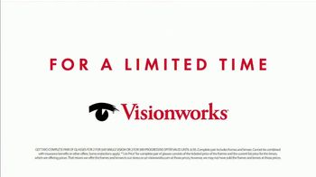 Visionworks TV Spot, 'Two Pairs of Glasses' - Thumbnail 5