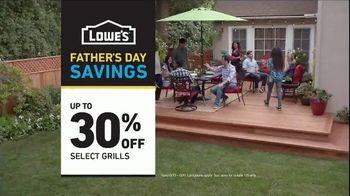 Lowe's Father's Day Savings TV Spot, 'Good Backyard: Grills' - Thumbnail 10