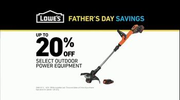 Lowe's Father's Day Savings TV Spot, 'Good Backyard: Outdoor Equipment' - Thumbnail 8