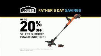 Lowe's Father's Day Savings TV Spot, 'Good Backyard: Outdoor Equipment' - Thumbnail 9