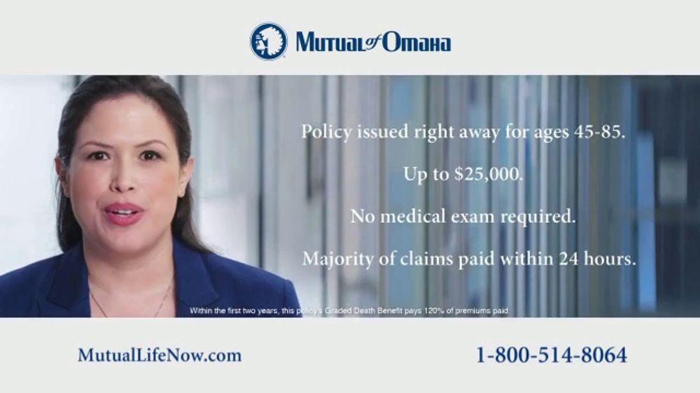 Mutual of Omaha Guaranteed Whole Life Insurance Policy TV ...