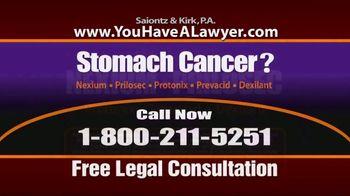 Saiontz & Kirk, P.A. TV Spot, 'Stomach Cancer' - Thumbnail 2