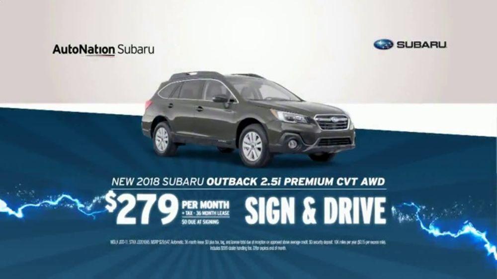 AutoNation 72 Hour Flash Sale TV Commercial, '2018 Subaru Outback'