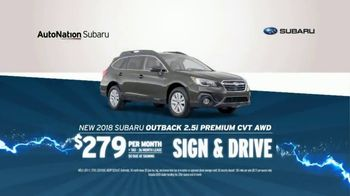 AutoNation 72 Hour Flash Sale TV Spot, '2018 Subaru Outback'