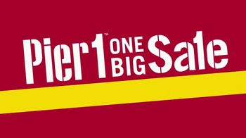 Pier 1 Imports One Big Sale & Clearance TV Spot, 'Front Door to Back Porch' - Thumbnail 2