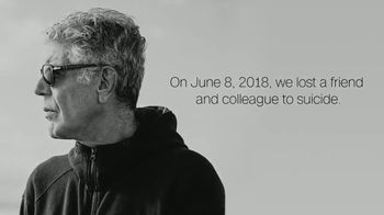 National Suicide Prevention Lifeline TV Spot, 'CNN: Anthony Bourdain'