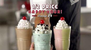 Steak 'n Shake 1/2 Price Happy Hour TV Spot, 'Hand-Dipped Milkshakes' - Thumbnail 9