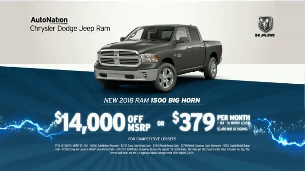 AutoNation 72 Hour Flash Sale TV Commercial, '2018 Ram 1500 Big Horn'
