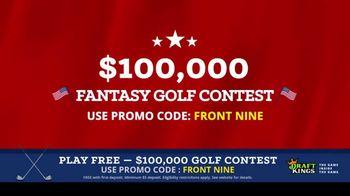 DraftKings Fantasy Golf TV Spot, '$100,000 Contest' - Thumbnail 3