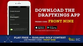 DraftKings Fantasy Golf TV Spot, '$100,000 Contest' - Thumbnail 4
