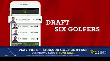 DraftKings Fantasy Golf TV Spot, '$100,000 Contest' - Thumbnail 7