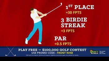 DraftKings Fantasy Golf TV Spot, '$100,000 Contest' - Thumbnail 8
