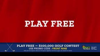 DraftKings Fantasy Golf TV Spot, '$100,000 Contest' - Thumbnail 9