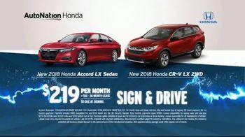 AutoNation 72 Hour Flash Sale TV Spot, '2018 Honda Accord & CR-V' - Thumbnail 3