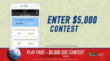DraftKings Single Game Showdown TV Spot, 'Fantasy Soccer Contest: $5,000' - 11 commercial airings