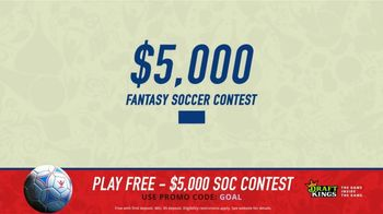 DraftKings Single Game Showdown TV Spot, 'Fantasy Soccer Contest: $5,000' - Thumbnail 1