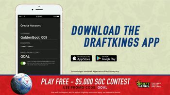 DraftKings Single Game Showdown TV Spot, 'Fantasy Soccer Contest: $5,000' - Thumbnail 3