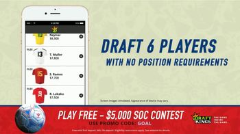 DraftKings Single Game Showdown TV Spot, 'Fantasy Soccer Contest: $5,000' - Thumbnail 6